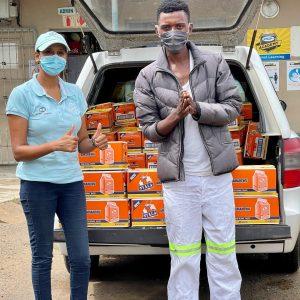 Premier FMCG Pty Ltd 820 boxes of Nyala Amahewu Donation